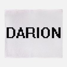 Darion Digital Name Design Throw Blanket