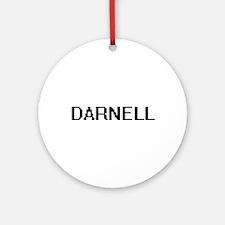 Darnell Digital Name Design Ornament (Round)