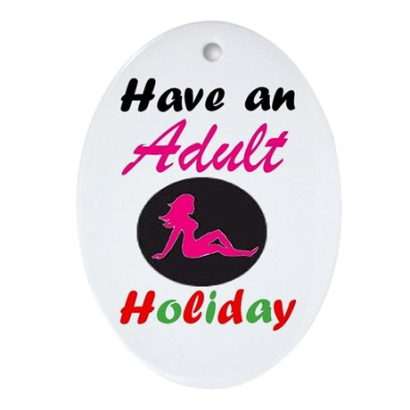 Adult Holiday Oval Ornament