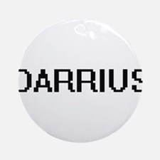 Darrius Digital Name Design Ornament (Round)
