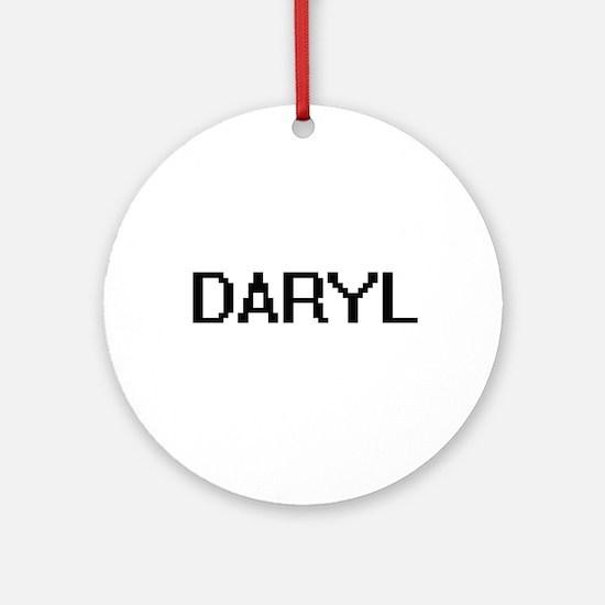 Daryl Digital Name Design Ornament (Round)