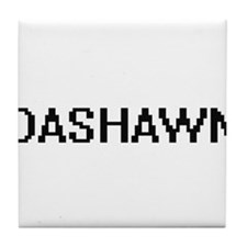 Dashawn Digital Name Design Tile Coaster