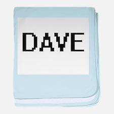 Dave Digital Name Design baby blanket