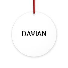 Davian Digital Name Design Ornament (Round)