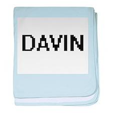 Davin Digital Name Design baby blanket
