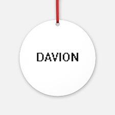 Davion Digital Name Design Ornament (Round)