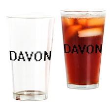 Davon Digital Name Design Drinking Glass