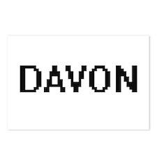 Davon Digital Name Design Postcards (Package of 8)
