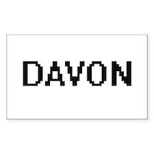 Davon Digital Name Design Decal
