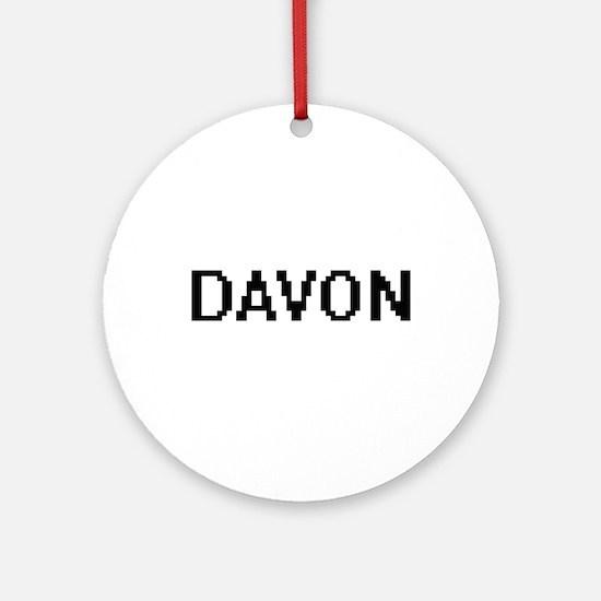 Davon Digital Name Design Ornament (Round)