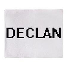 Declan Digital Name Design Throw Blanket