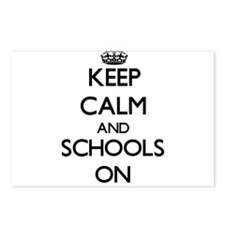 Keep Calm and Schools ON Postcards (Package of 8)