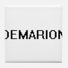 Demarion Digital Name Design Tile Coaster