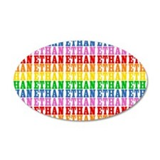 Rainbow Name Pattern Wall Decal