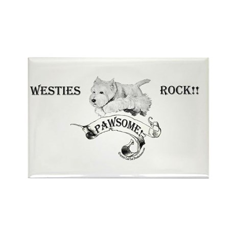Westhighland White Terrier Paw Rectangle Magnet