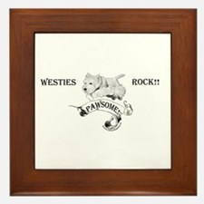 Westhighland White Terrier Paw Framed Tile