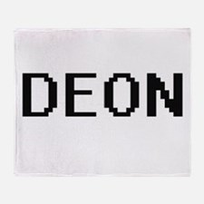 Deon Digital Name Design Throw Blanket