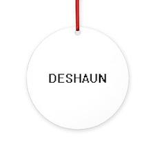 Deshaun Digital Name Design Ornament (Round)