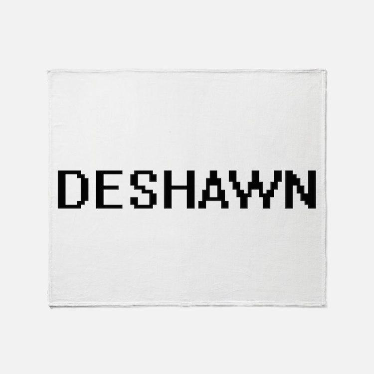 Deshawn Digital Name Design Throw Blanket