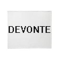 Devonte Digital Name Design Throw Blanket