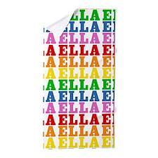 Rainbow Name Pattern Beach Towel