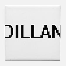 Dillan Digital Name Design Tile Coaster