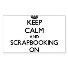 Keep Calm and Scrapbooking ON Decal