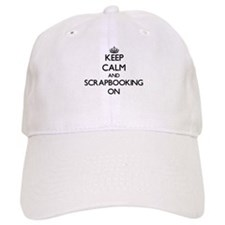 Keep Calm and Scrapbooking ON Baseball Cap