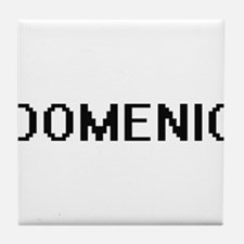 Domenic Digital Name Design Tile Coaster