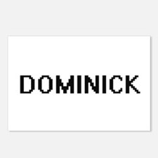 Dominick Digital Name Des Postcards (Package of 8)