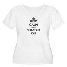 Keep Calm and Scratch ON Plus Size T-Shirt