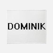 Dominik Digital Name Design Throw Blanket