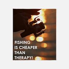 FISHING IS Throw Blanket