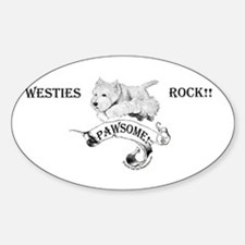 Westhighland White Terrier Paw Oval Decal