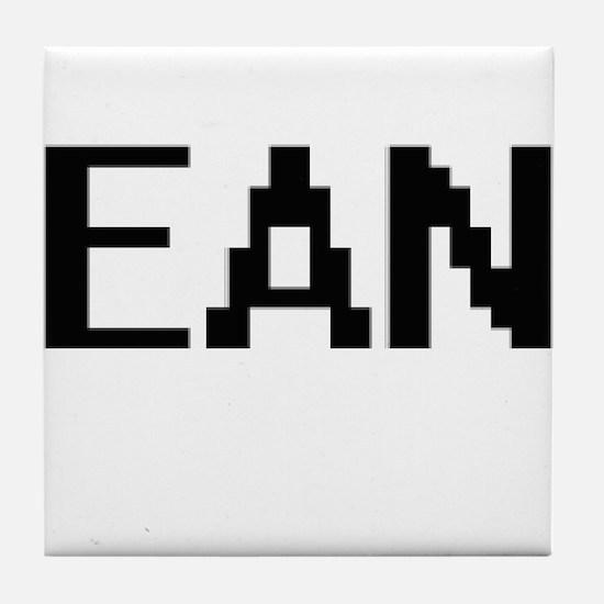 Ean Digital Name Design Tile Coaster