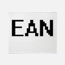 Ean Digital Name Design Throw Blanket