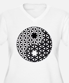 Yin Yang Flower of Life Plus Size T-Shirt