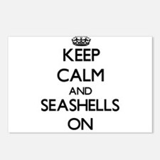 Keep Calm and Seashells O Postcards (Package of 8)