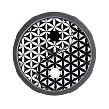 Yin Yang Flower of Life Wall Clock