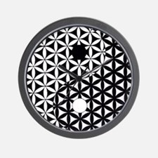 Yin Yang Flower of Life Wall Clock