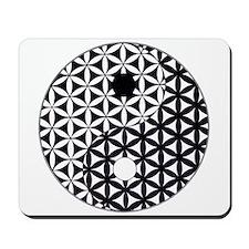 Yin Yang Flower of Life Mousepad