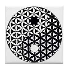 Yin Yang Flower of Life Tile Coaster