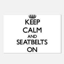 Keep Calm and Seatbelts O Postcards (Package of 8)