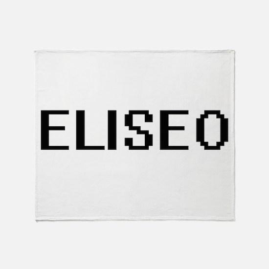 Eliseo Digital Name Design Throw Blanket