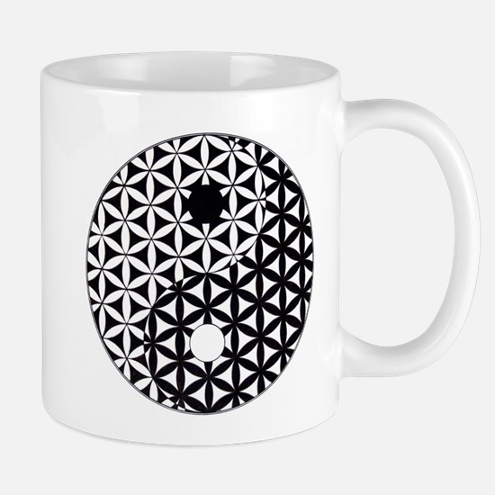 Yin Yang Flower of Life Mugs