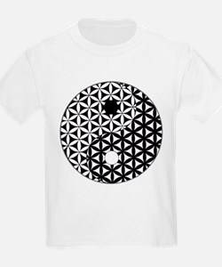 Yin Yang Flower of Life T-Shirt