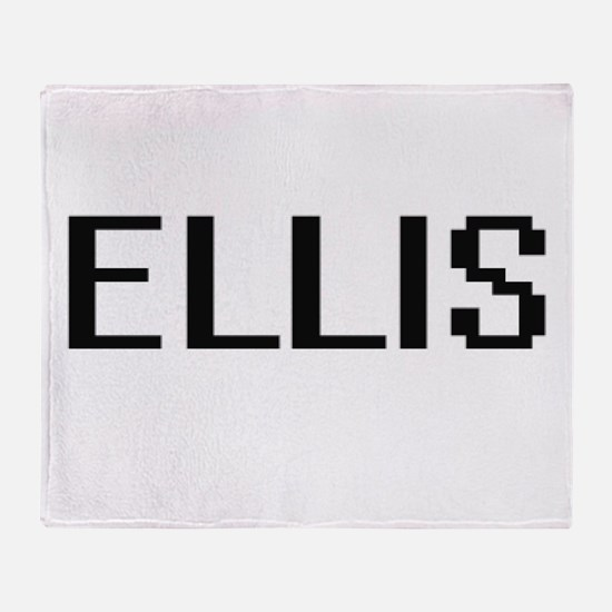 Ellis Digital Name Design Throw Blanket