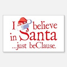 I Believe In Santa Rectangle Decal