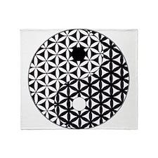 Yin Yang Flower of Life Throw Blanket