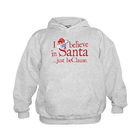 I Believe In Santa Kids Hoodie